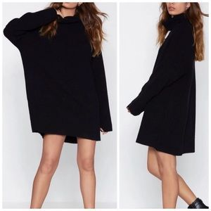 Nasty Gal Warm Ways Sweater Dress Wool Blend